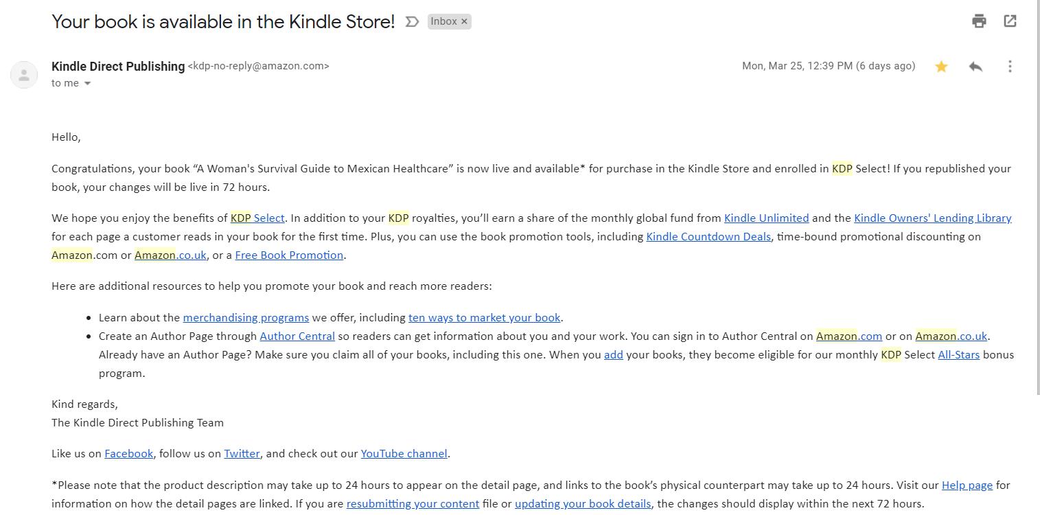 Kindle Direct Publishing C E Flores