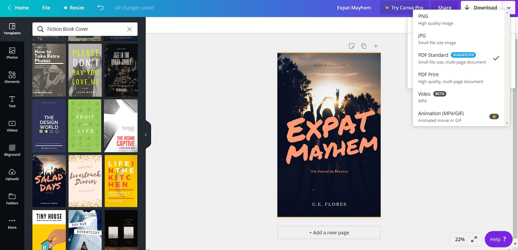 Creating An Ebook Cover With Canva C E Flores